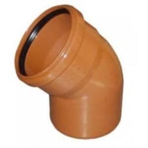 Колено ПВХ 45 градусов для наружной канализации Valrom CF345