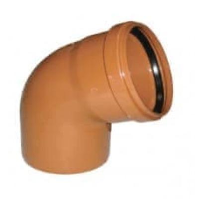 Колено ПВХ 67 градусов для наружной канализации Valrom CA367