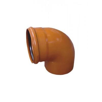 Колено ПВХ 87 градусов для наружной канализации Valrom CF390