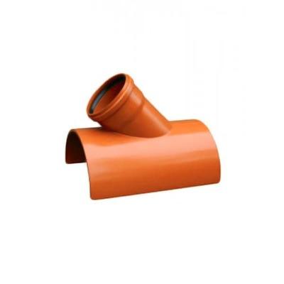 Седло ПВХ 45 градусов для наружной канализации Valrom СA945
