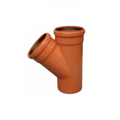 Тройник ПВХ 45 градусов для наружной канализации Valrom CF245